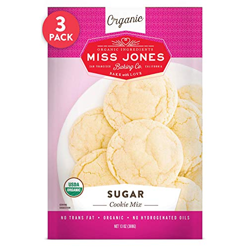 Miss Jones Baking Organic Cookie Mix, Non-GMO, Vegan-Friendly: Sugar (Pack of 3)