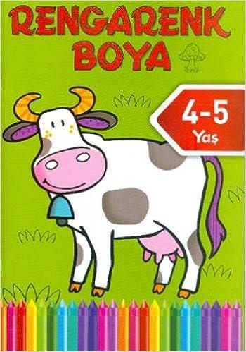 Rengarenk Boya 4 5 Yas Yesil Kitap Kolektif 9786050908817 Amazon