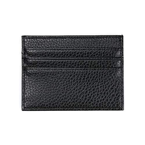 (❤️Sunbona Card Holder Wallet Fashion Retro Men Leather Clutch Billfold Wallet Credit ID Card Slim Purse Black)