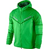 NIKE Stay Dry Cyclone Mens Track Packable Running Jacket Green 519734 $150