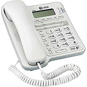AT&T CL2909 Corded Phone with Speakerphone and Caller ID/Call Waiting, White