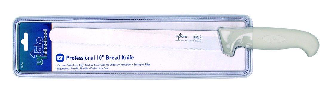 Update International (KP-06) 10'' German Steel Bread Knife