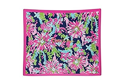 ab4ec51b259140 amazon com lilly pulitzer glass catchall tray trippin sippin ...