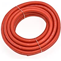 Conext Link 15 FT 4 AWG GA Full Gauge Battery Power Cable Ground Wire Frost Red OFC Copper