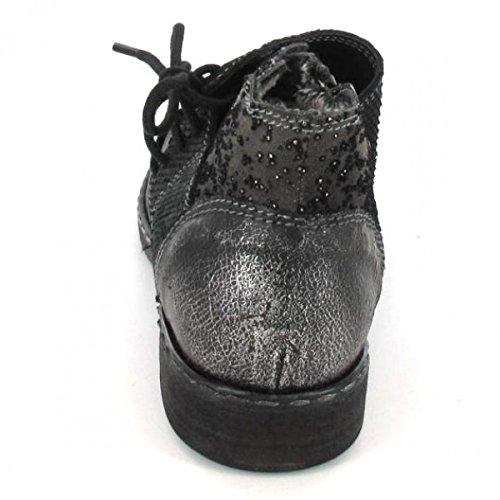 Charme Stiefelette Combi A, Farbe: Schwarz/Grau