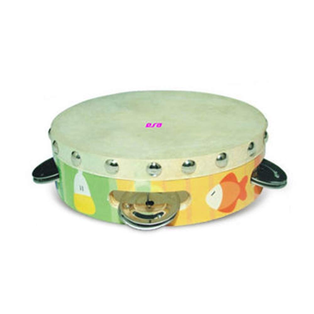 Tambourine Toy, Various Percussion Instruments are Available, Made of Solid Wood/Skin, EN 71 Test by 9POINT9