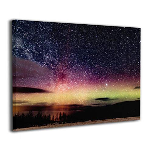 Henry Huxley Wall Art Decor Painting On Canvas Print, Aurora Stretched and Frameless,for Kitchen Living Room Bedroom Decoration Home Office Wall Posters 16x20 Inch
