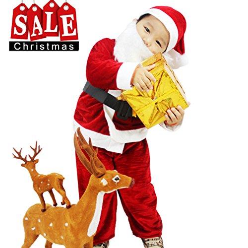 Dolloly Santa Suit for Kids Christmas Costume Xmas Children Santa Claus (Santa Suit To Buy)