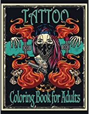 Tattoo Coloring Book for Adults: 30 Tattoo Designs for Relaxation and Stress Relief