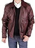 Luciano Natazzi Men's Fine Leather Jacket (Medium, Burgundy)