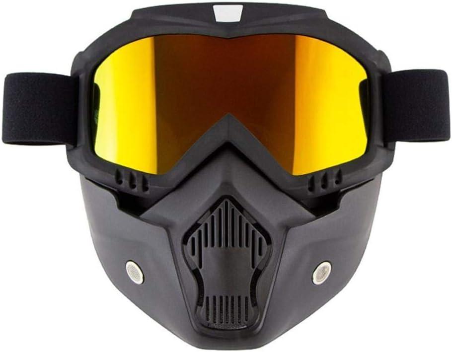 Protección para los Ojos Gafas para Montar Casco a Prueba de Viento Moto Gafas Gafas de Deporte al Aire Libre-Oro