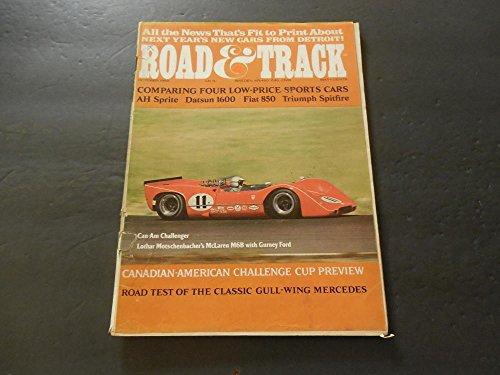 Road Track Oct 1968 Datsun 1600; Fiat 850; Triumph Spitfire