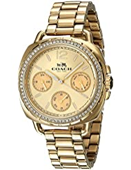 Coach Womens 14502570 Tatum Gold Tone Stainless Crystal Glitz Watch