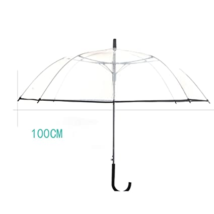 faca93225a55 Amazon.com: ZfgG Transparent Umbrella, Windproof Thickened Semi ...