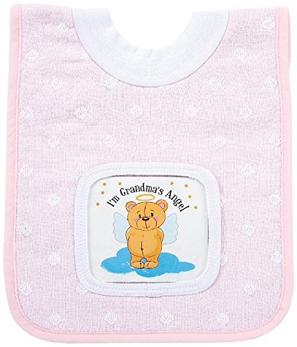 AM PM Kids! Peek-A-Boo Pocket Pullover Bib, Pink