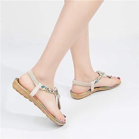 Sandalias de Vestir Plano para Mujer Verano Primavera 2019 PAOLIAN Calzado Chanclas Fiesta Playa Elegantes Tallas Grandes Zapatos Piel sintético Casual Dama Escuela Cómodos 35-40 EU
