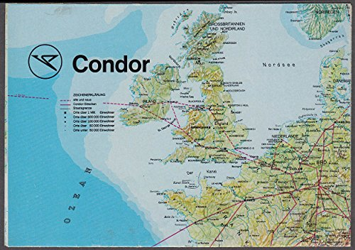 Condor Airlines airline route map 1975