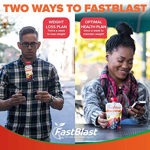 FastBlast Banana-Berry Smoothie. Supports Intermittent Fasting. Controls Appetite and Maintains Energy. USDA Certified Organic, Vegan, Non-GMO, Soy Free & No Added Sugar (48 Units: 4 Packs of 12) by FastBlast (Image #5)