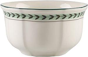 Villeroy & Boch French Garden Green Line 4in Bowl, 20 oz, Premium Porcelain, White/Green