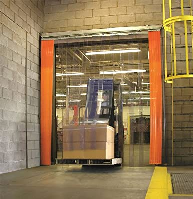 Width X Height Flsd-108-50 Option A: Without Storage Strip : 10 X 8 Qm-Hd-8080-Wxh-Xx/% Clearway Door With 50 /% Overlap Ft Forklift Strip Door