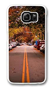 Autumn in City Custom Samsung Galaxy S6/Samsung S6 Case Cover Polycarbonate White