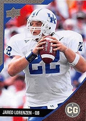 Jared Lorenzen Football Card (Kentucky Wildcats) 2014 Upper Deck Conference Greats Pewter #47