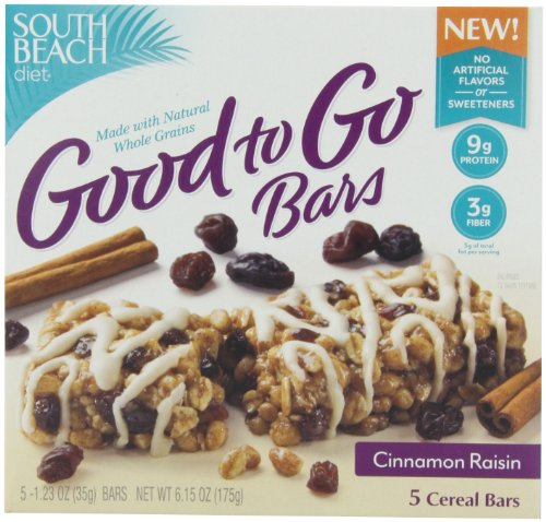 South Beach Diet Good To Go зерновых баров, корица изюм, 1,23 унции, 5-Count (в упаковке 8)