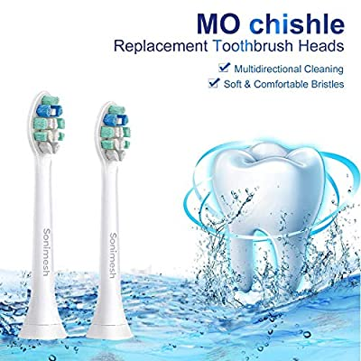 Sonimesh Replacement Toothbrush Heads for Phillips Sonicare Electric Toothbrush, 10 Pack