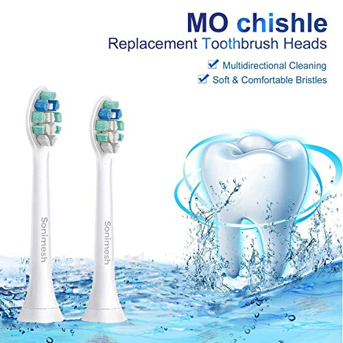 Replacement Toothbrush Heads for Phillips Sonicare Electric Toothbrush, 10 Pack