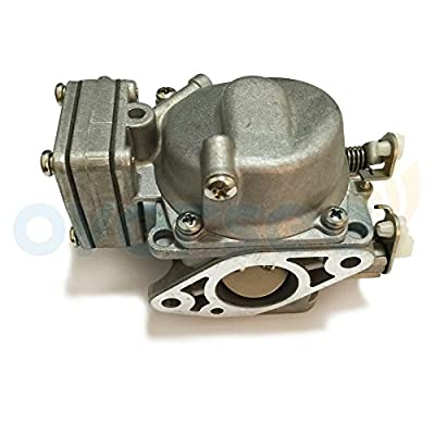 OVERSEE 3B2-03200-1 or 3K9-03200-0 Outboard Carburetor For TOHATSU Nissan Outboard Motor 8HP 9.8HP 2 Stroke, Boat Motor Carburetor Assy, Replacement Carburetor Aftermarket Parts 3B2-03200 3G0-03200