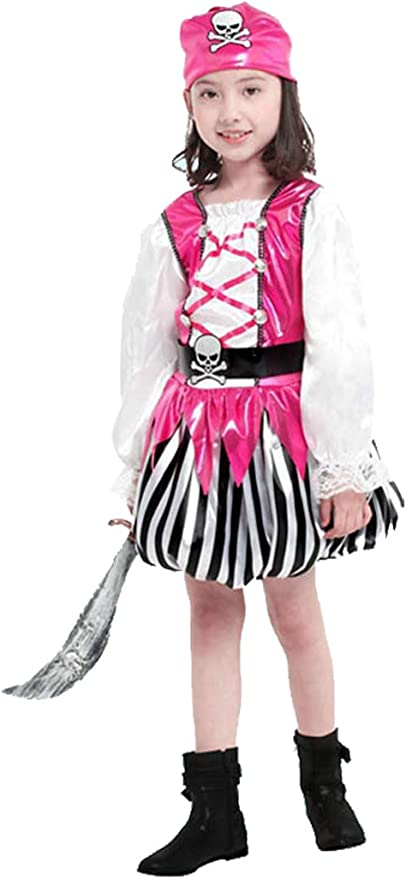 Disfraz de Pirata niña caribeña Disfraz calavera pirata disfraz y ...