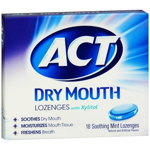 ACT Dry Mouth Soothing Mint Lozenges 18 ea ( Pack of 4)