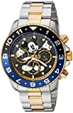 Invicta Men's 'Disney Limited Edition' Quartz Stainless Steel Casual Watch, Color:Two Tone (Model: 24954)