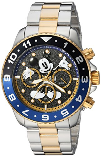 - Invicta Men's Disney Limited Edition Quartz Watch with Stainless-Steel Strap, Two Tone, 22 (Model: 24954)