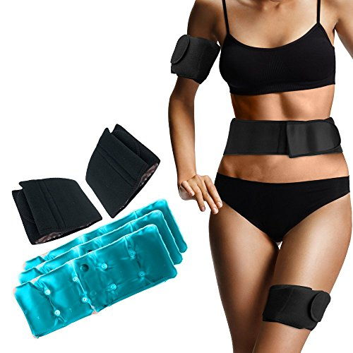 Cold Slim Shaper Belt - Effective Cryo Gel Packs that Freezes and Reduces Unwanted Fat by Freeze n Fit
