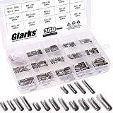 Glarks 360Pcs M2 M2.5 M3 M4 Slotted Spring Pin Assortment Kit, Split Spring Dowel Tension Roll Pins - 304 Stainless Steel