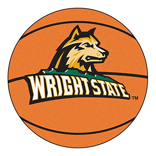 NCAA Wright State University Raiders Basketball Shaped Mat Area Rug ()
