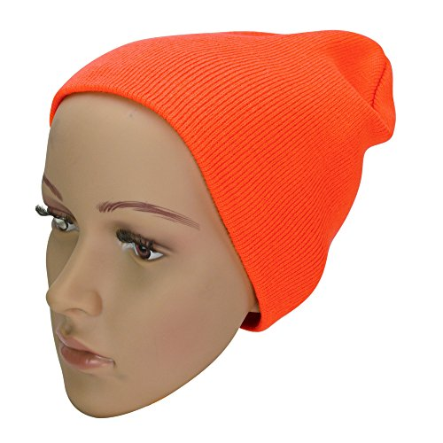 Solid Beanie Winter Snowboard Orange