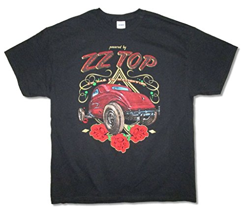 ZZ Top Powered By Tour 2015 Mens Black T Shirt Adult (3X)