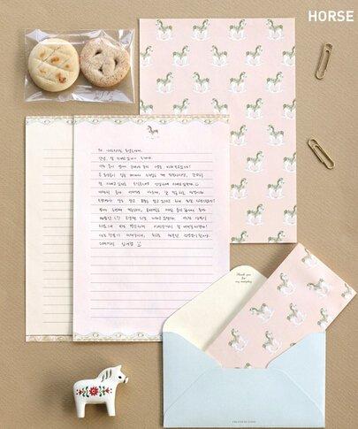 48 bonitas hojas de escritura con 24/sobres 1/sello adhesivo para hoja de etiquetas Style-3 Funcoo 8.3x5.8inch