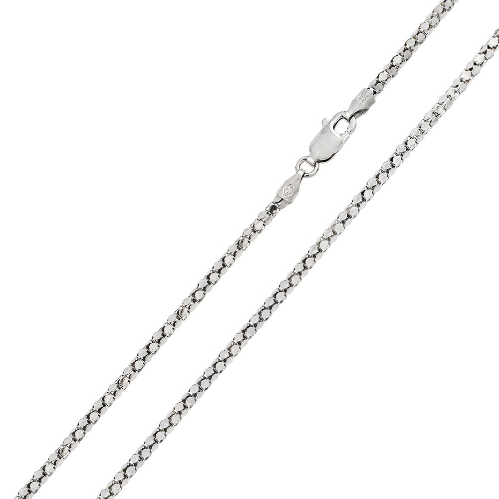CloseoutWarehouse Rhodium Plated Sterling Silver DC Flat Multi Disc Coreana Chain 2mm