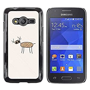Paccase / Dura PC Caso Funda Carcasa de Protección para - Child Drawing Art Deer Forest Pencil Kid Painting - Samsung Galaxy Ace 4 G313 SM-G313F
