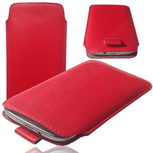 HQ ROT Slim Cover Case Schutz Hülle Pull UP Etui Smartphone Tasche für Apple IPhone 6 / 6S