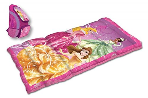 Disney Princess Oxford Backpack with Sleeping Bag, Princess D-2PCPRN3A