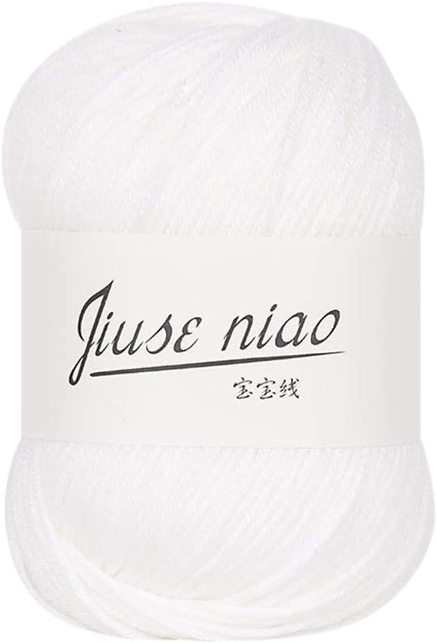 AGUIguo Classic Wool Yarn Soft Baby Cotton Yarn 50g Skein,for Kids Garments Scarves Hats and Craft Projects