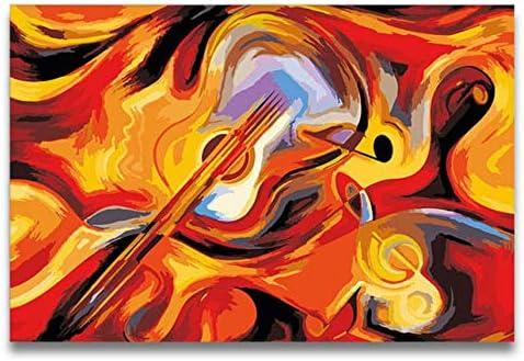 Violín Abstracto Guitarra Pintura Al Óleo Dibujo Para Colorear ...