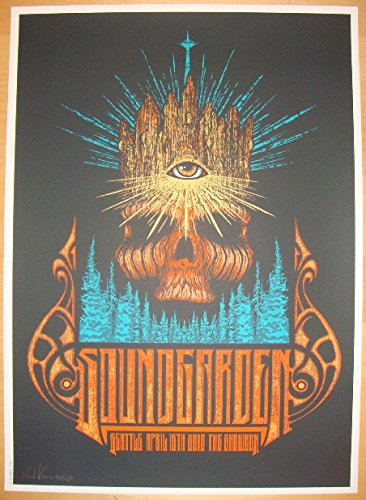 2010 Soundgarden - Seattle Concert Poster by Brad Klausen AP