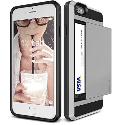 Verus Damda Slide Premium Hard Case mit Schutzfunktion und Schrammen inkl. extra Fach für Apple iPhone 6 Plus hellsilber
