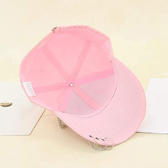 Sanjiayi Adult Bts Casual Solid Adjustable Iron Ring Baseball Caps Snapback Cap Hats Fitted Casual Gorras Dad Hats
