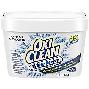 Best Epic Trends 51b6LEDkXPL._SS300_ OxiClean White Revive Laundry Whitener + Stain Remover, 3 lbs.